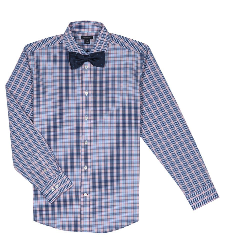 859f96d8a Get Quotations · Tommy Hilfiger Boys' Long Sleeve Stretch Dress Shirt with  Bow Tie