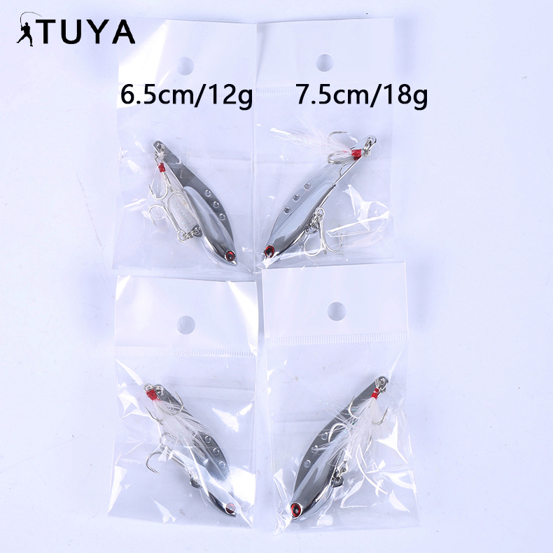 Shinning metal spoon lure jig 10g to 18g
