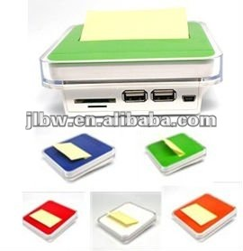 USB HUB And Card Reader With Note Paper