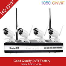 HD iDVR Video China Surveillance Wifi Cctv Dvr Hisilicon Chip 4Ch Wireless Ip Camera Nvr Kit