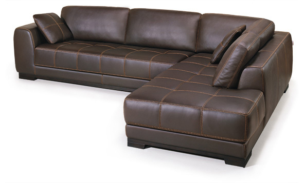 Buy Corner genuine leather sofa set modern brown sofas and L ...