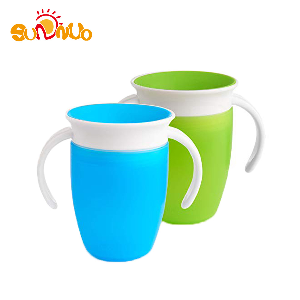 High Quality 360 Degree Rotation Handle baby miracle 360 trainer cup