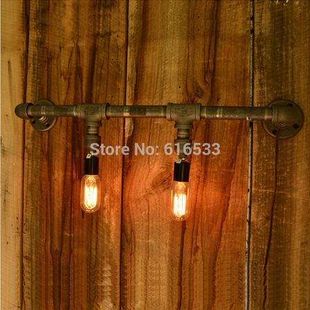 Water pipe wall lamp vintage nostalgia lamps project light b8028