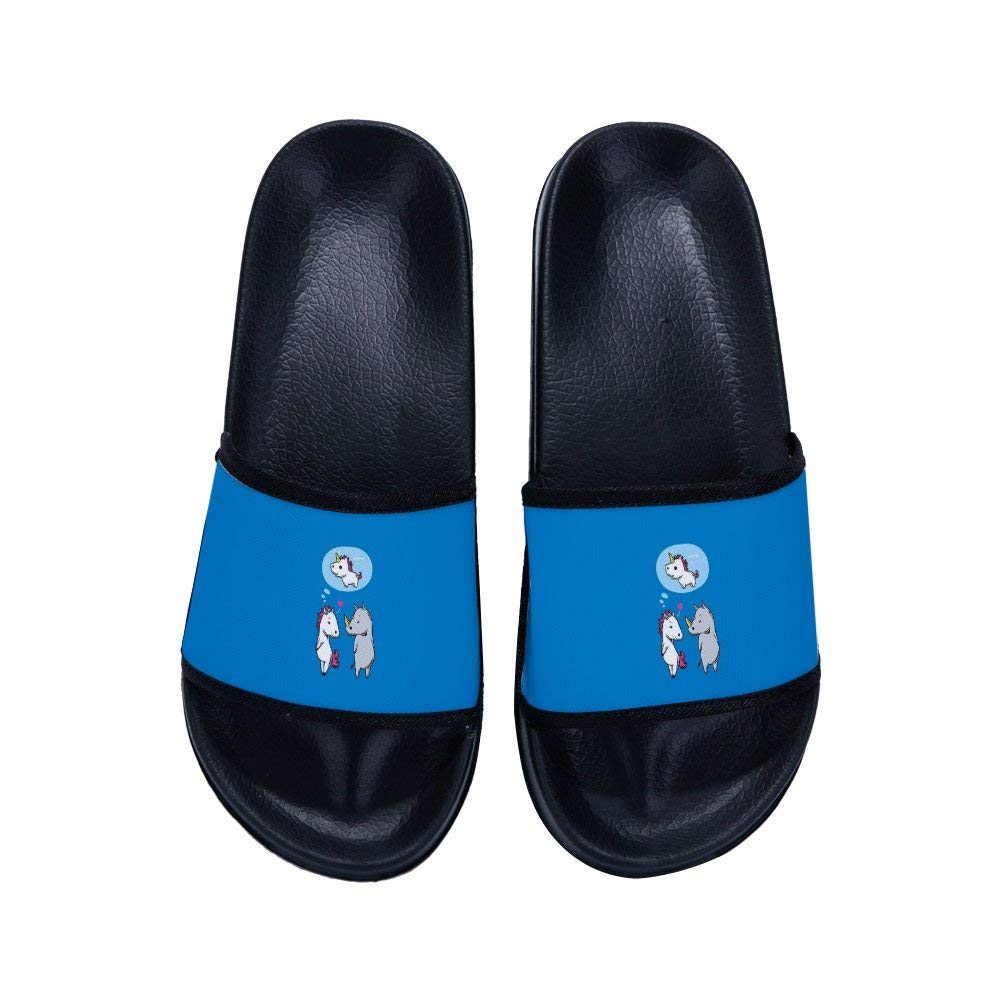 MingDe Sports Boys Girls Unicorn Bathroom Slippers Shower Shoes Gym Slippers Soft Sole Open Toe House Slippers