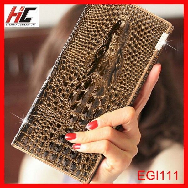 Alibaba wholesale 2014 top sale fashion crocodile leather <strong>wallet</strong> lady grils <strong>wallets</strong> to import