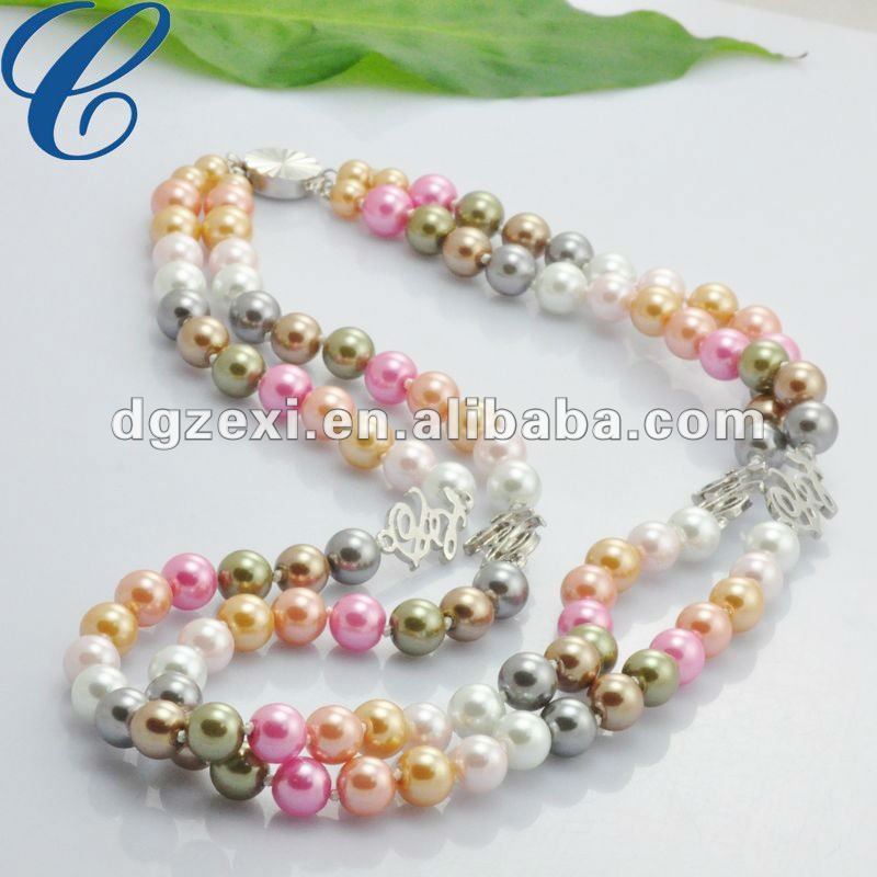 17c8820a8fc6 Colorido Perla Artificial Double Strands Collar - Buy Collar De ...