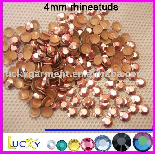 korean quality hot fix rhinestuds ,iron-on rhinestuds, Lt pink color
