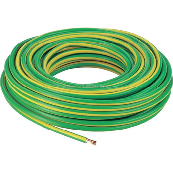 Green And Yellow Ul1015 14awg Pvc Insulated Tinned Copper Electrical ...