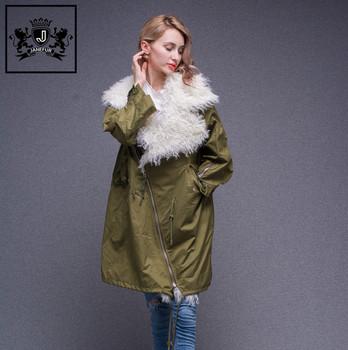 Warm Und Bequem Beliebte Echte Mongolische Lammfell Trimmen Jacke Winter Frauen Parka Mantel Buy Pelz Jacke Frauen Mantel,Wintermantel Pelzkragen