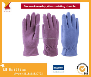 Womens single layer warm riding polar fleece finger gloves