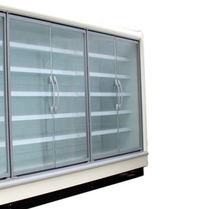 Supermarket glass door freezer upright display refrigeration equipment