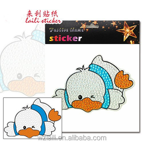 The cute animal cartoon stickers for children decor