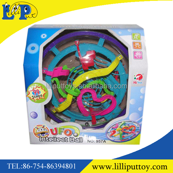 99 Pass Magical Labyrinth Intellect Ball Game,3D Maze Perplex Ball