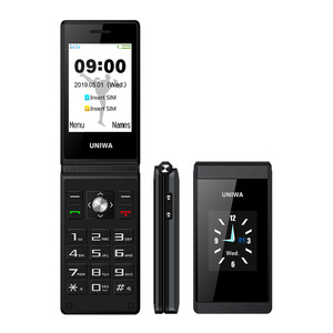 Ready to ship SOS Wireless FM Radio 1200mAh Battery Long Standby 2 8 inch  /1 77 inch Dual Screen Flip Mobile Phone