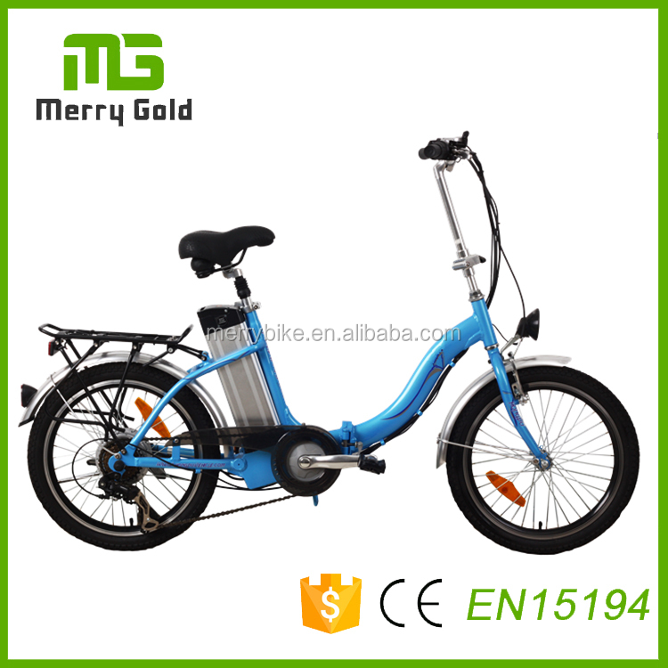 50km long range 250w brushless motor mini folding electric bike