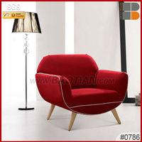 High Quality art deco furniture fabric sofa chair #0786