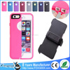 Hybrid Armor Silicone Shockproof Dropproof Otterboxing Defender Case with Built-in Screen Protector for Apple iPhone 6