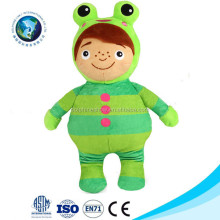 Custom lovely push stuffed frog prince baby boy doll