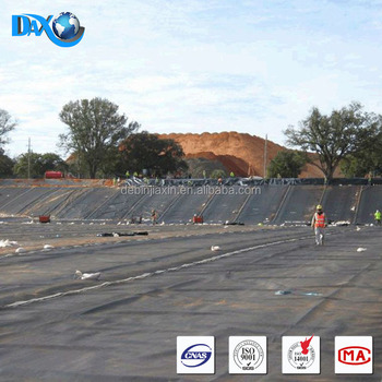 1.5mm Or 2mm Black Hdpe Geomembrane Price For Dam Lining