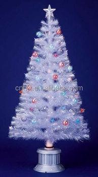 white fiber optic christmas tree christmas ball decoration tree
