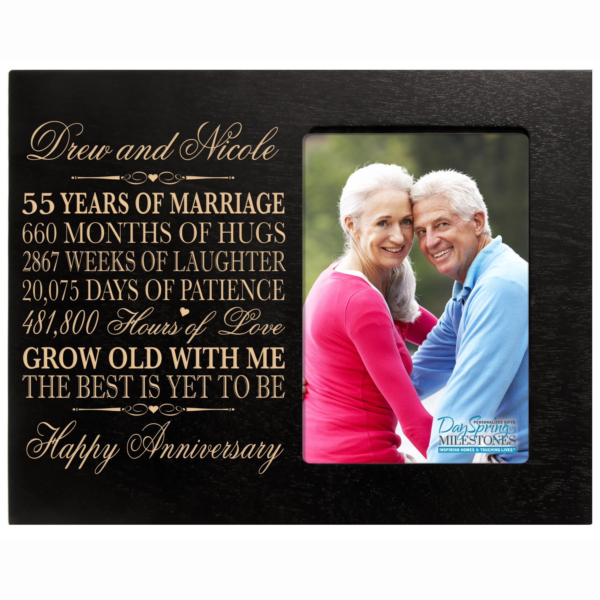 Buy Personalized 55th Year Wedding Anniversary Gift For Couple