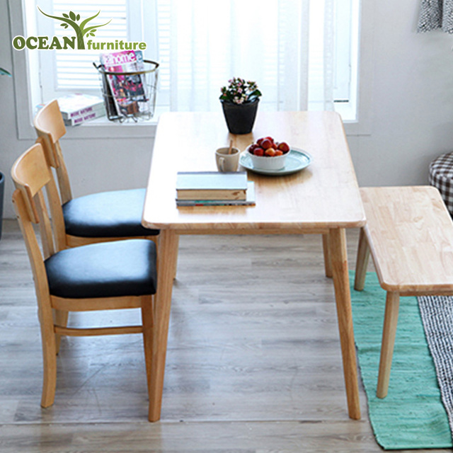 Durable cheap solid wood furniture dining room table sets