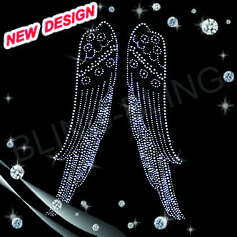 new bling bling Leed free for wing Korean hotfix rhinestone