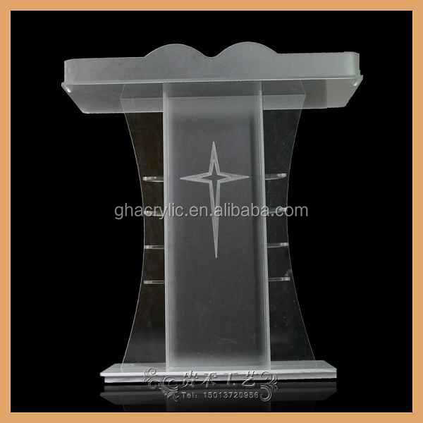 Fashion Style Acrylic Church Pulpit Design,Modern Organic Glass ...