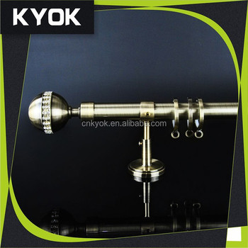KYOK Factory Curtain Rod Parts, Black Metal Curtain Rod Finial Canada
