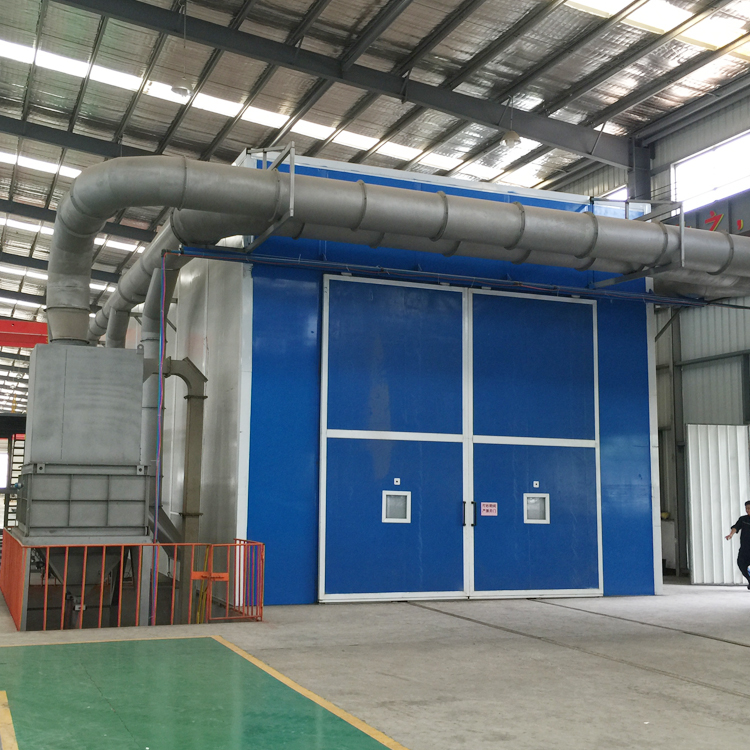 Qingdao Sand Air Blasting Room Real Factory