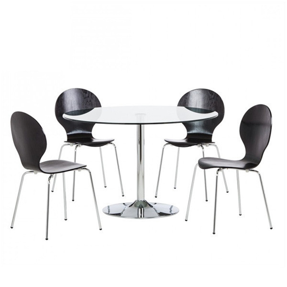 modern wood round dining table set