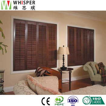 Home Decor Low Price Indoor Folding Plantation Shutters Basswood