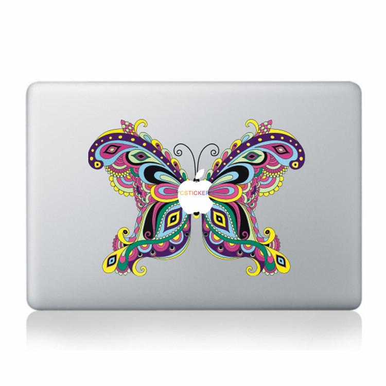 Goedkope prijs laptop decoratie decal zelfklevende vinyl stickers 13.3 inch mac laptop vlinder patroon wrap huid