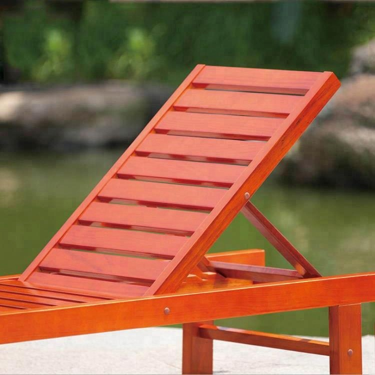 Solid furniture modern wooden leisure folding chair outdoor for beach
