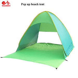 Portable Lightweight Beach Tent ,Automatic Pop Up Sun Shelter Umbrella,Outdoor Cabana Beach Shade with UPF 50+ Sun Protection