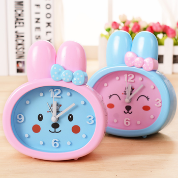 Pink Blue Rabbit Kids Alarm Clock