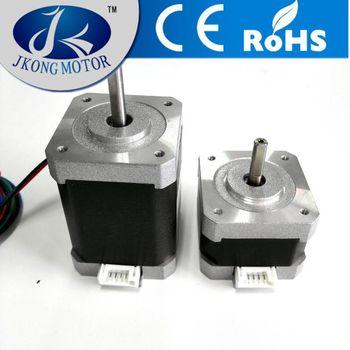 Reprap 3d printer nema 17 dua shaft stepper motor crimped for Types of stepper motor