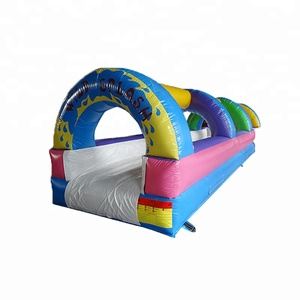 Fantastic Style Multi-Colored Inflatable Long Water Slide For Sale