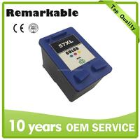 Remanufactured 57xl ink cartridge for hp compatible 56 57 deskjet inkjet printer