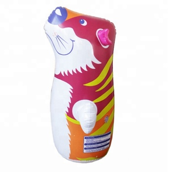 Eco Friendly Pvc Animal Shaped Inflatable Kids Punching Bag Boxing Robot Boxer Toy For