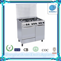 Double oven free standing gas cooker with gas oven ,Electric oven with gas stove