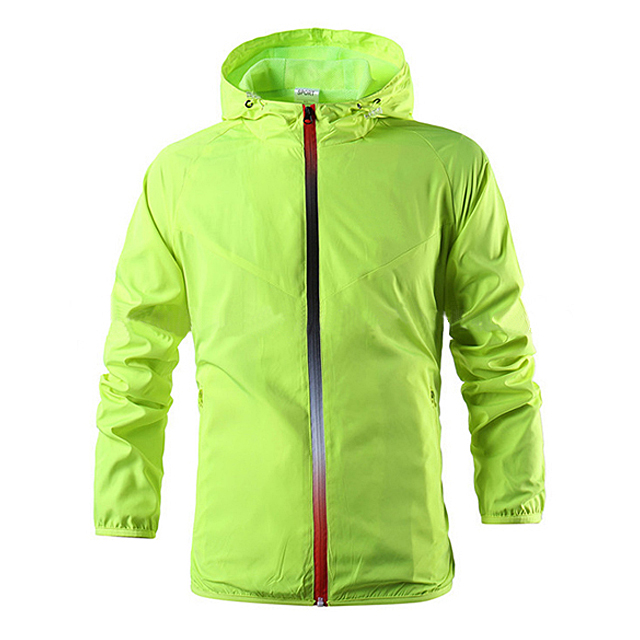 Men's Thin Hooded Outdoor Sports Windbreaker Jacket Waterproof Breathable Wind stopper Jacket