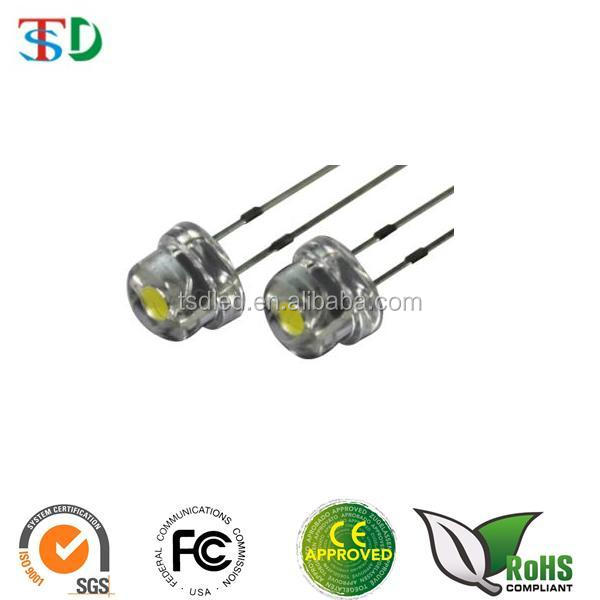 1000pcs New F8 8mm 0.5w 3.0-3.2v Straw Hat Led White Super Bright Led Lamp Wide Angle Transparent Led Lamp Strawhat Led Profit Small Diodes