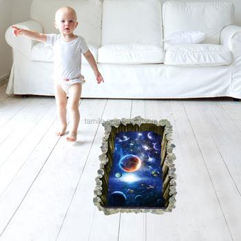 Wunderbare Space Star Planeten Badezimmer Wohnzimmer 3d Boden Aufkleber Für  Fliesen Malerei - Buy Linsenförmige 3d Boden Aufkleber,Druck 3d Boden ...