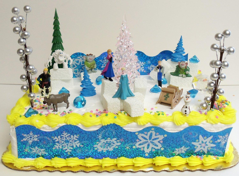 Buy Elsa And Anna Frozen 23 Piece Birthday Cake Topper Set