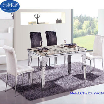 High Quality Modern Tempered Glass Dining Table Set Buy