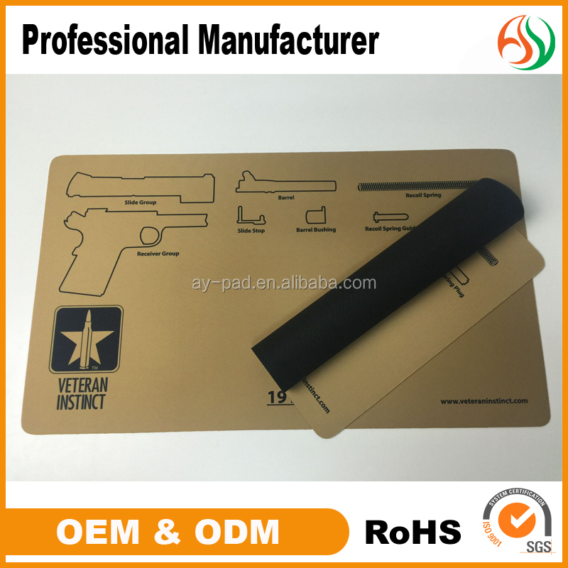AY Rubber Mouse Pad Roll Material Playmat Gun Cleaning Mat Manufacturer
