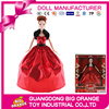 Plastic 2017 Modern Dolls for Children With Queen Dress