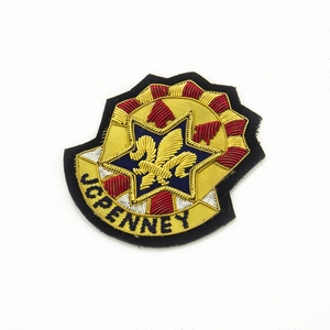 fashion bullion wire garment military embroidery patches badge for blazer