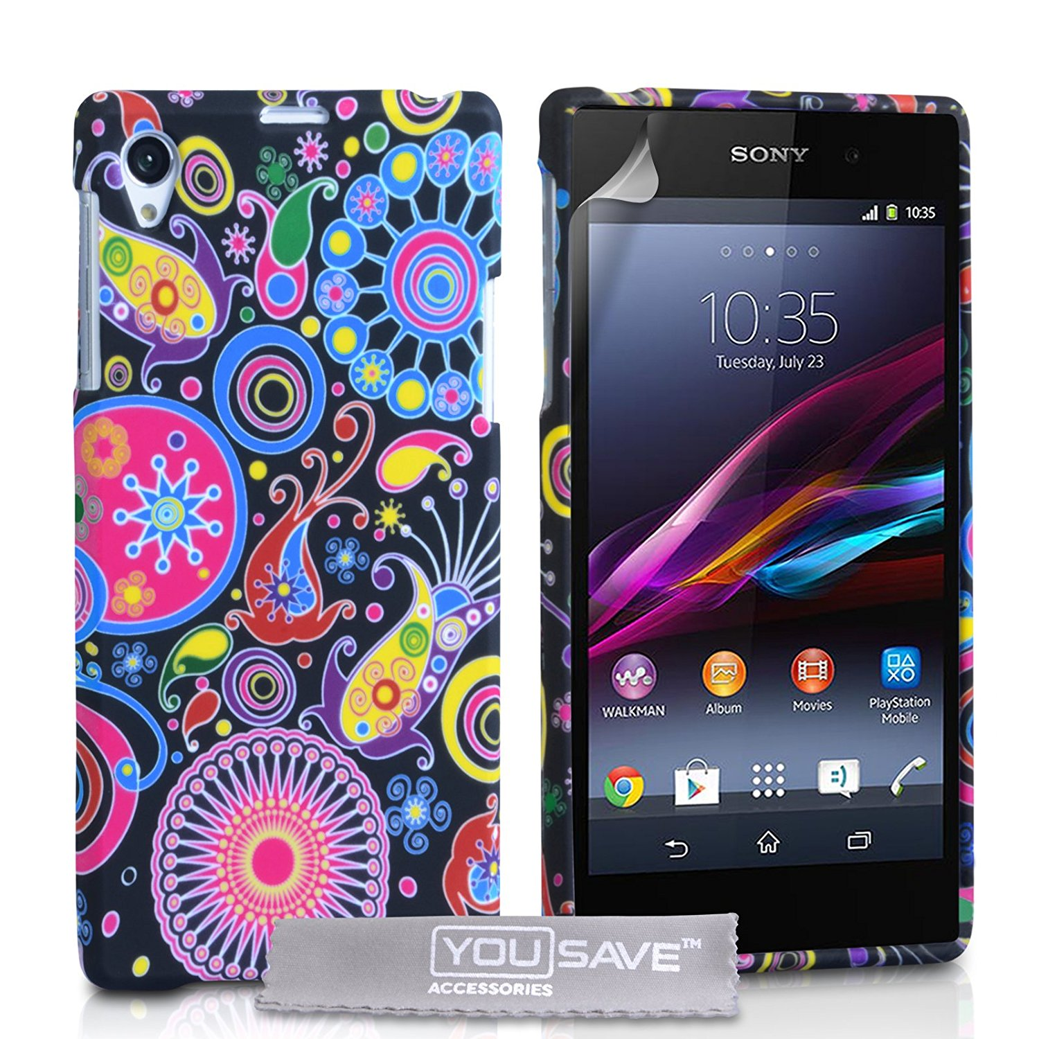 9c4065e0da88 Get Quotations · Yousave Sony Xperia Z1 Case Jellyfish Silicone Gel Cover